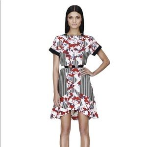 Peter Pilotto x Target Red & Black Belted Dress